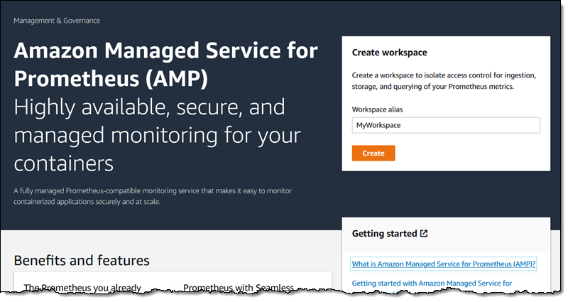 Únase a la vista previa – Amazon Managed Service for Prometheus (AMP)